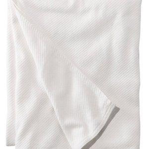 L.L. Bean Maine-Made White Cotton Twill Blanket
